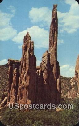 Ruins of Montezuma's Temple - Pikes Peak Region, Colorado CO Postcard