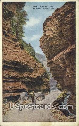 The Narrows - Williams Canon, Colorado CO Postcard