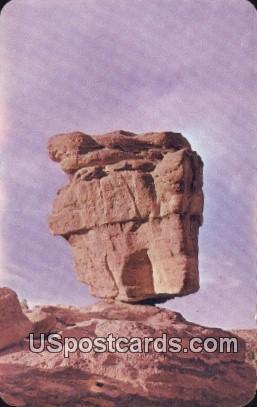 Balanced Rock - Pikes Peak Region, Colorado CO Postcard