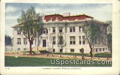 Carnegie Library - Pueblo, Colorado CO Postcard