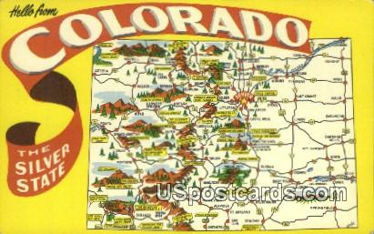 Greetings from, Colorado Postcard       ;       Greetings from, CO
