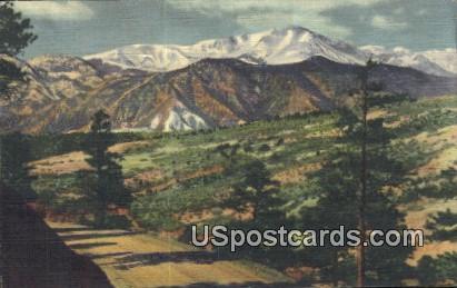 Rampart Range Road - Pikes Peak Region, Colorado CO Postcard