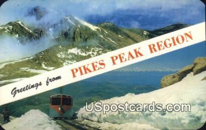 Pikes Peak Region, CO Postcard       ;       Pikes Peak Region, Colorado