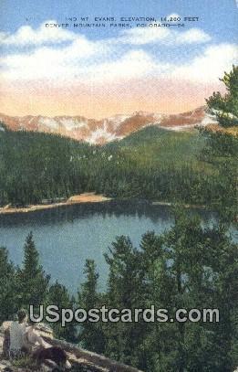 Mt Evans - Denver Mountain Parks, Colorado CO Postcard