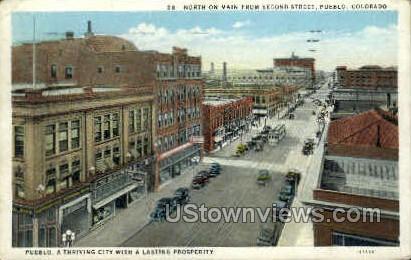 Second Street - Pueblo, Colorado CO Postcard