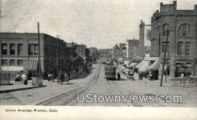 Union Avenue - Pueblo, Colorado CO Postcard