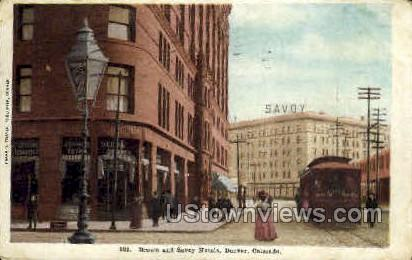 Brown & Savoy Hotels - Denver, Colorado CO Postcard