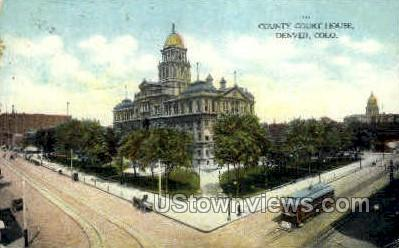 County Court House - Denver, Colorado CO Postcard