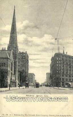 Broadway - Denver, Colorado CO Postcard