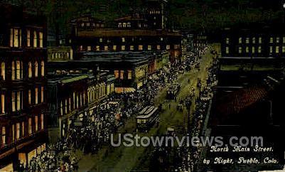 Main Street - Pueblo, Colorado CO Postcard