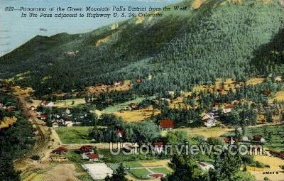 Green Mountain Falls from the West - Ute Pass, Colorado CO Postcard