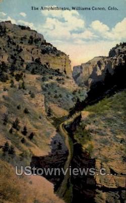 The Ampitheater, Williams Canon - Colorado CO Postcard