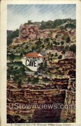 Entrance to Cave of the Winds and Williams Canon - Colorado CO Postcard