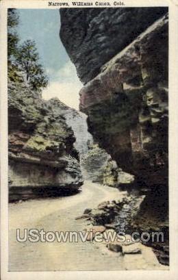Narrows, Williams Canon - Colorado CO Postcard