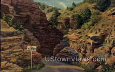 The Narrows, William Canon - Williams Canon, Colorado CO Postcard