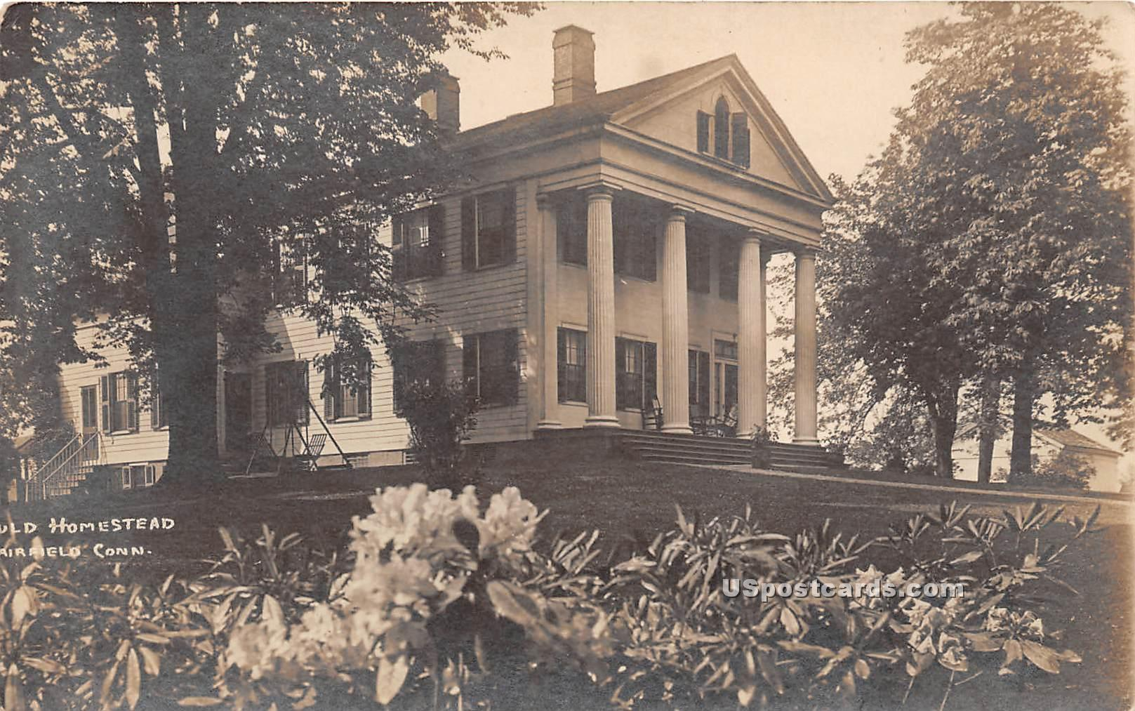 Old Homestead - Airfield, Connecticut CT Postcard