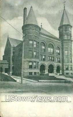 Court House - Bridgeport, Connecticut CT Postcard