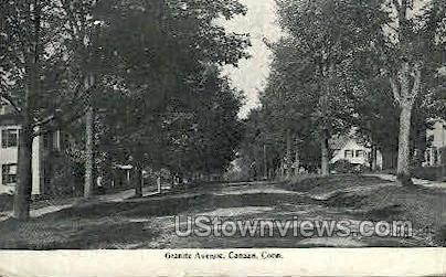 Granite Ave. - Canaan, Connecticut CT Postcard