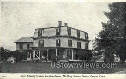 Society Vacation House - Canaan, Connecticut CT Postcard