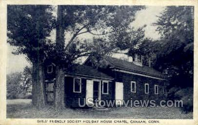 Society Holiday House Chapel - Canaan, Connecticut CT Postcard