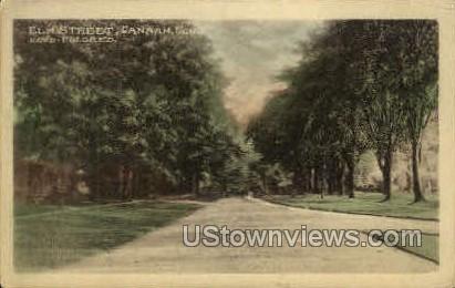 Elm St. - Canaan, Connecticut CT Postcard