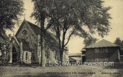 Episcopal Church & Parish House - Canaan, Connecticut CT Postcard