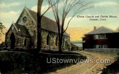 Christ Church & Parish House - Canaan, Connecticut CT Postcard