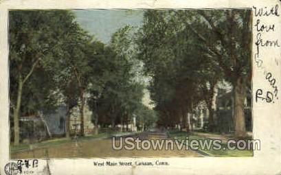 Main Street - Canaan, Connecticut CT Postcard