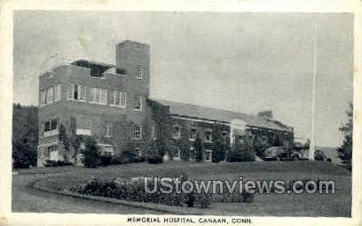 Memorial Hospital - Canaan, Connecticut CT Postcard