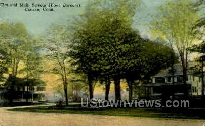Elm & Main Sts. - Canaan, Connecticut CT Postcard