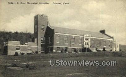 Robert C. Geer Memorial Hospital - Canaan, Connecticut CT Postcard