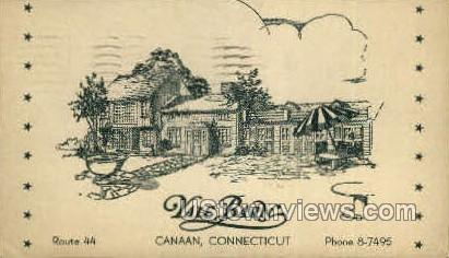 Yale Barn Restaurant - Canaan, Connecticut CT Postcard