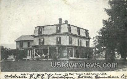 The Mary Watson Home - Canaan, Connecticut CT Postcard