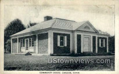 Community House - Canaan, Connecticut CT Postcard