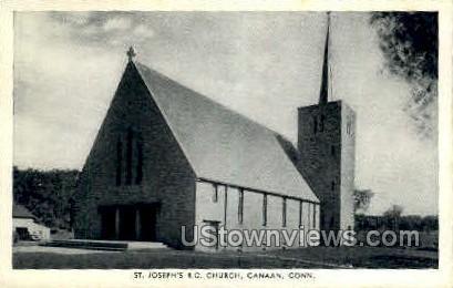 St. Joseph's R.C. Church - Canaan, Connecticut CT Postcard