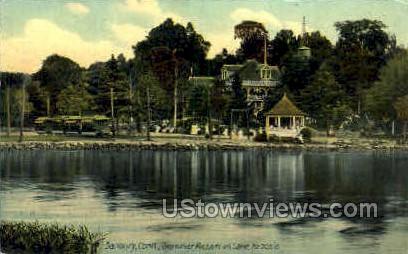 Summer Resort, Lake Kenosia - Danbury, Connecticut CT Postcard