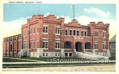 State Armory - Danbury, Connecticut CT Postcard