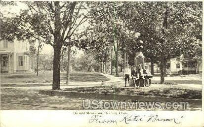 Garfield Monument - Danbury, Connecticut CT Postcard