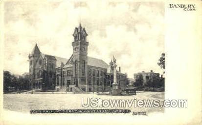 M.E. Church - Danbury, Connecticut CT Postcard