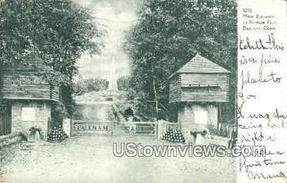Main Entrance, Putnam Park - Danbury, Connecticut CT Postcard