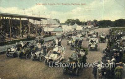 Automobile Parade - Danbury, Connecticut CT Postcard