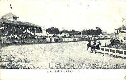 Race Track, Danbury Fair - Connecticut CT Postcard