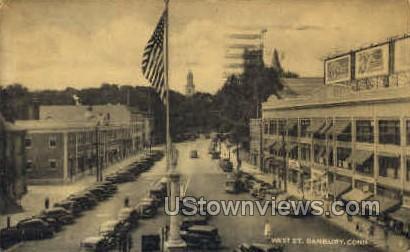 West St. - Danbury, Connecticut CT Postcard