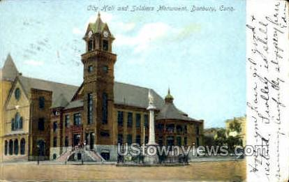 City Hall  - Danbury, Connecticut CT Postcard