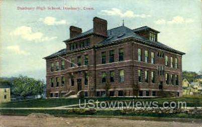 Danbury High School - Connecticut CT Postcard