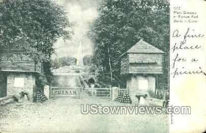 Putnam Park - Danbury, Connecticut CT Postcard