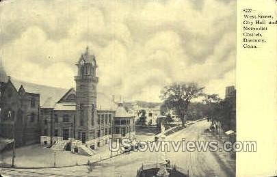 Methodist Church - Danbury, Connecticut CT Postcard