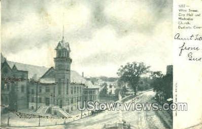 West St., City Hall - Danbury, Connecticut CT Postcard