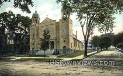 St. Joseph's Church - Danbury, Connecticut CT Postcard