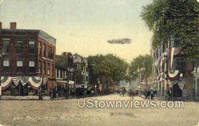 White St. - Danbury, Connecticut CT Postcard